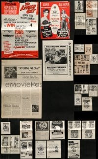 5d271 LOT OF 35 UNCUT PRESSBOOK SUPPLEMENTS 1960s-1970s advertising for a variety of movies!