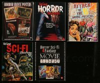 5d037 LOT OF 5 BRUCE HERSHENSON HORROR/SCI-FI SOFTCOVER MOVIE BOOKS 2000-2004 color poster images!