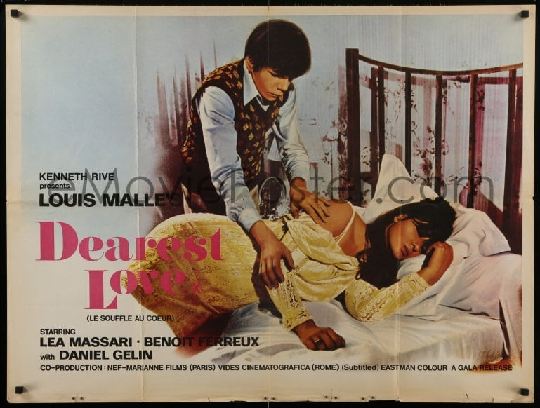 Murmur of the Heart-Rare Original Vintage Movie Poster of Louis Malle/'s Contemporary Portrait of Boyhood with Lea Massari and Daniel G\u00e9lin
