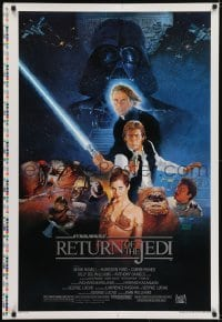 5g868 RETURN OF THE JEDI style B printer's test 1sh 1983 George Lucas, Kazuhiko Sano artwork!