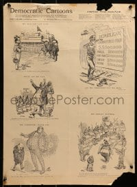 5g441 DEMOCRATIC CARTOONS 18x24 special poster 1890s political cartoons by F. Opper and Almscharde!
