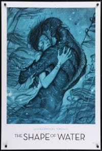 5g002 SHAPE OF WATER heavy stock 27x40 special poster 2017 Guillermo del Toro, James Jean art, rare!