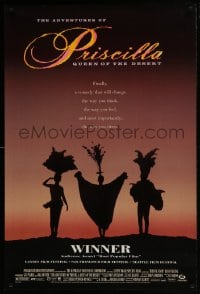5s017 ADVENTURES OF PRISCILLA QUEEN OF THE DESERT DS 1sh 1994 silhouette of Stamp, Weaving, Pearce!