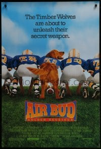 5s019 AIR BUD GOLDEN RECEIVER 1sh 1998 family canine dog football sports adventure, bury the ball!