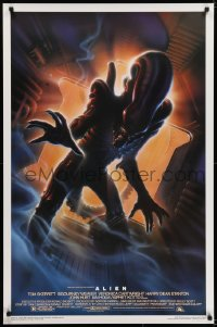 5s026 ALIEN style A Kilian 1sh R1994 Ridley Scott outer space classic, cool different Alvin art!