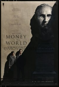 5s034 ALL THE MONEY IN THE WORLD recalled teaser DS 1sh 2017 Ridley Scott, Kevin Spacey credited!