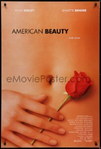 5s038 AMERICAN BEAUTY DS 1sh 1999 Sam Mendes Academy Award winner, sexy close up image!