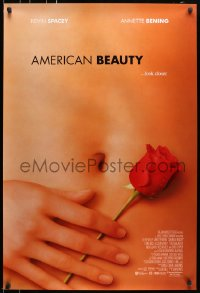 5s039 AMERICAN BEAUTY int'l DS 1sh 1999 Sam Mendes Academy Award winner, sexy close up image!