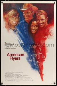 5s040 AMERICAN FLYERS 1sh 1985 Kevin Costner, David Grant, cyclist cycling on bike art by Grove!