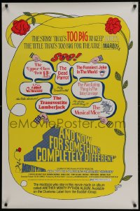 5s043 AND NOW FOR SOMETHING COMPLETELY DIFFERENT 1sh 1972 Monty Python kills the motion picture!
