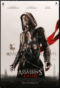 5s047 ASSASSIN'S CREED style D int'l advance DS 1sh 2016 Michael Fassbender & the Hidden Blade!