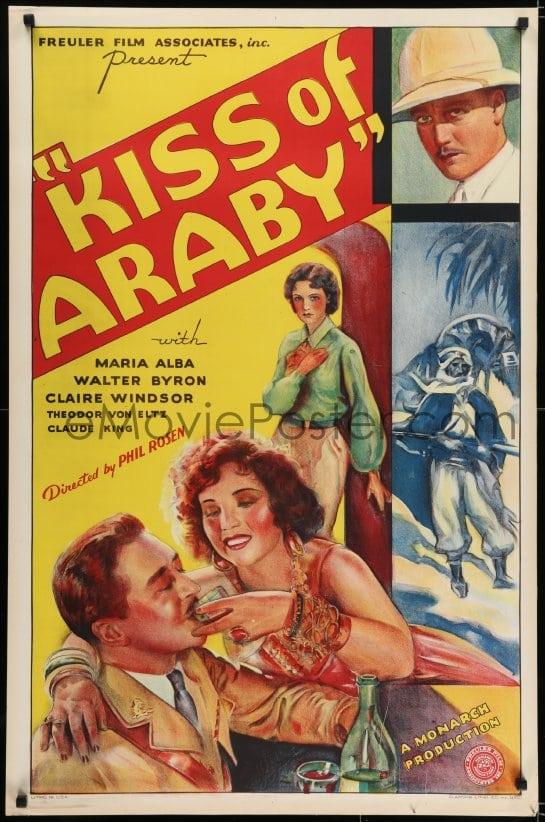 eMoviePoster com: 5s477 KISS OF ARABY 1sh 1933 great full-length art