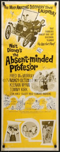 5t006 ABSENT-MINDED PROFESSOR insert 1961 Disney, Flubber, Fred MacMurray in title role!