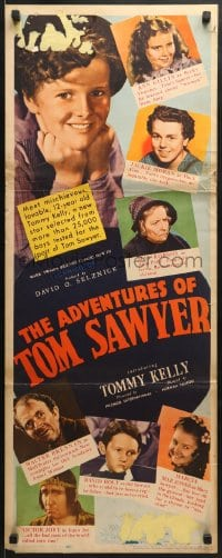 5t010 ADVENTURES OF TOM SAWYER insert 1938 Tommy Kelly as Mark Twain's classic character!