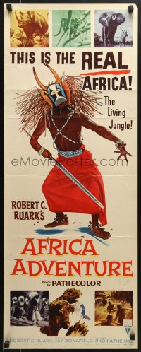 5t011 AFRICA ADVENTURE insert 1954 this is the REAL Africa, the living jungle, wild native image!