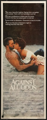 5t012 AGAINST ALL ODDS insert 1984 Jeff Bridges makes out with Rachel Ward on the beach!