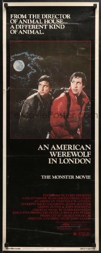 5t019 AMERICAN WEREWOLF IN LONDON insert 1981 David Naughton, Griffin Dunne, directed by Landis!