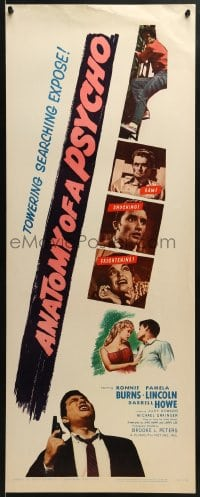 5t020 ANATOMY OF A PSYCHO insert 1961 terrifying searching expose of a stalker after a beautiful babe!