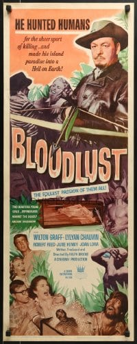 5t050 BLOODLUST insert 1961 he hunted humans for sport, his island was Hell on Earth!