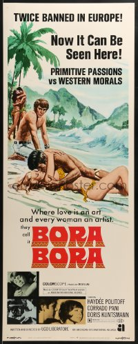 5t058 BORA BORA insert 1970 where love is an art and every woman is an artist!