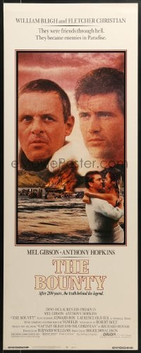 5t061 BOUNTY insert 1984 Mel Gibson, Anthony Hopkins, Laurence Olivier, Mutiny on the Bounty!