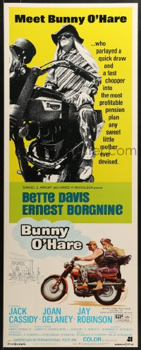 5t070 BUNNY O'HARE insert 1971 Bette Davis & Ernest Borgnine on motorcycles!