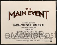 5w003 MAIN EVENT 13 color 11x14 stills 1979 Barbra Streisand with boxer Ryan O'Neal!