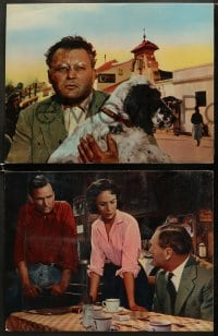 5w019 ACROSS THE BRIDGE 8 English LCs 1958 Rod Steiger in Graham Greene's great suspense story!