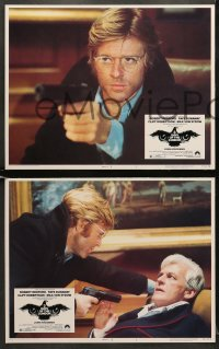 5w015 3 DAYS OF THE CONDOR 8 LCs 1975 analyst Robert Redford & Faye Dunaway, Sidney Pollack!