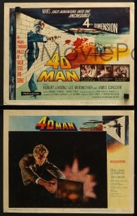 5w017 4D MAN 8 LCs 1959 includes great fx scenes of Robert Lansing passing through solid matter!
