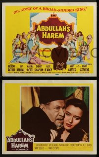 5w018 ABDULLAH'S HAREM 8 LCs 1956 Gregory Ratoff, Kay Kendall, English sex in Egypt!
