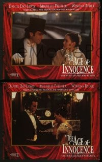 5w021 AGE OF INNOCENCE 8 LCs 1993 Martin Scorsese, Daniel Day-Lewis, Winona Ryder