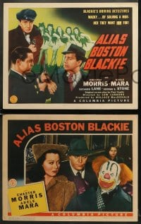 5w022 ALIAS BOSTON BLACKIE 8 LCs 1942 Lew Landers, Adele Mara & Chester Morris in title role!