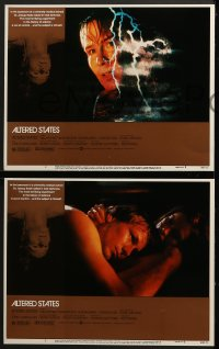 5w025 ALTERED STATES 8 LCs 1980 William Hurt, Paddy Chayefsky, Ken Russell, sci-fi horror!