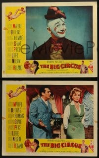 5w036 BIG CIRCUS 8 LCs 1959 Victor Mature, Red Buttons, Fleming, Vincent Price & Peter Lorre shown!