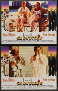 5w037 BIRDCAGE 8 LCs 1996 gay Robin Williams & Nathan Lane, Gene Hackman, Dianne Wiest!