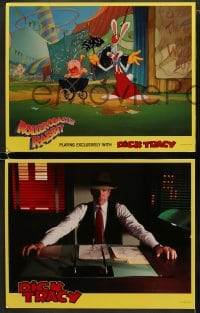 5w005 DICK TRACY 12 LCs 1990 Warren Beatty, sexiest Madonna, Al Pacino, Roller Coaster Rabbit!
