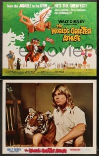 5w013 WORLD'S GREATEST ATHLETE 9 LCs 1973 Walt Disney, Jan-Michael Vincent goes from jungle to gym!