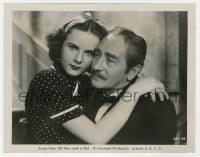 5x029 100 MEN & A GIRL 8x10.25 still 1937 c/u of Deanna Durbin with her arms around Adolphe Menjou!