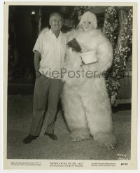 5x035 7 FACES OF DR. LAO candid 8x10 still 1964 George Pal with Tony Randall in makeup as Yeti!
