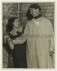 5x036 7TH HEAVEN stage play 8x10 still 1927 John Litel stops Kay Hammond attacking him with knife!
