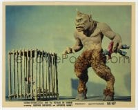 5x001 7th VOYAGE OF SINBAD color 8x10 still 1958 Ray Harryhausen, special fx scene with cyclops!
