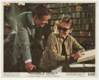 5x004 BREAKFAST AT TIFFANY'S color 8x10 still 1961 Peppard laughs with Audrey Hepburn in library!