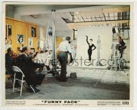 5x006 FUNNY FACE color 8x10 still 1957 model posing in photography studio, Stanley Donen musical!