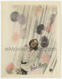 5x008 GRACE MOORE color 8x10 still 1930s great smiling portrait with ballons & facsimile signature!