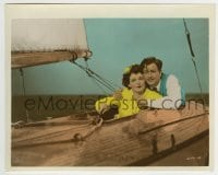 5x009 H.M. PULHAM ESQ color 8x10 still 1941 great c/u of Robert Young & Hedy Lamarr on sailboat!