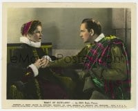 5x013 MARY OF SCOTLAND color 8x10 still 1936 c/u of Katharine Hepburn holding Fredric March's hand!
