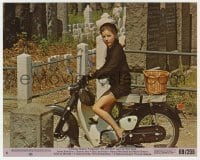 5x014 ME, NATALIE 8x10 mini LC #6 1969 great image of Patty Duke in mourning outfit on motorcycle!