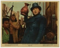 5x015 MOBY DICK color 8x10 still #8 1956 John Huston, great image of Gregory Peck as Captain Ahab!