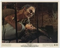 5x016 ONCE UPON A TIME IN THE WEST color 8x10 still 1968 Claudia Cardinale & Henry Fonda c/u in bed!